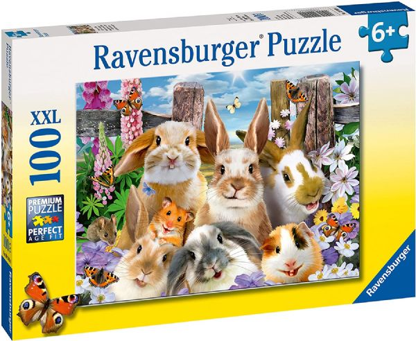 Ravensburger 10949 4 Rabbit Selfie XXL 100pc Jigsaw Puzzle, Multicoloured Roll over image to zoom in